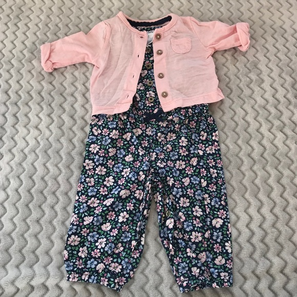 shop for original search for clearance autumn shoes Baby Romper and Cardigan Set
